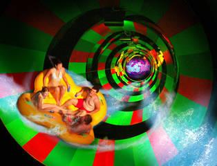 Adrenalinschübe im einzigartigen Brain Wash © Wet'n Wild Orlando